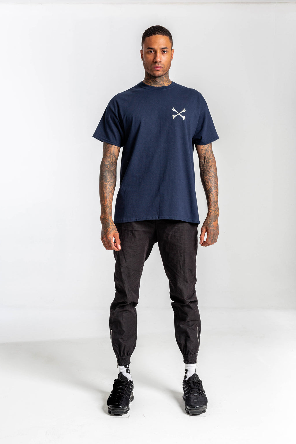 Redstar World Tour Navy Tshirt - Backprint & Front Embroidery