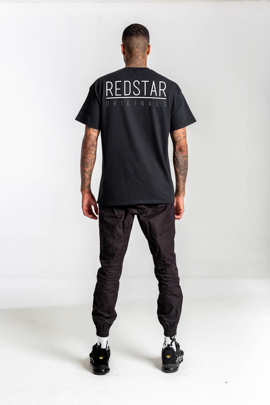 Redstar Originals Black Tshirt - Backprint & Front Embroidery