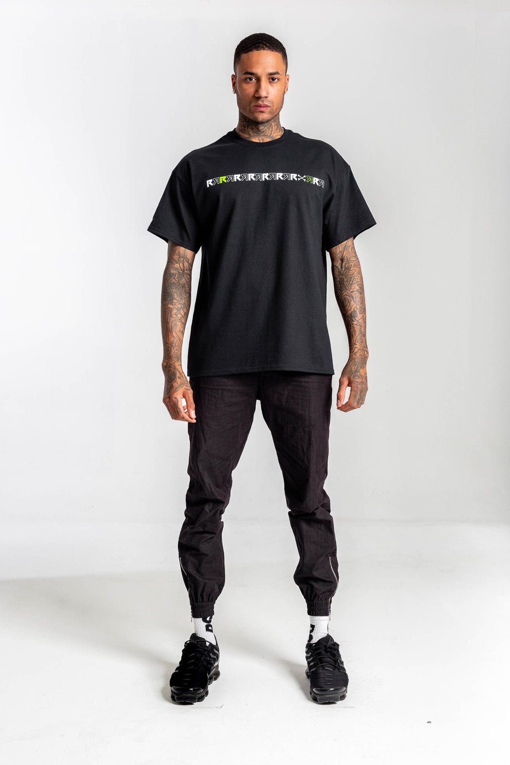 RSC Double R Bones Black Tshirt - Front print & Back Embroidery