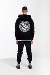 Circle Cube Zip-up Hoodie Black