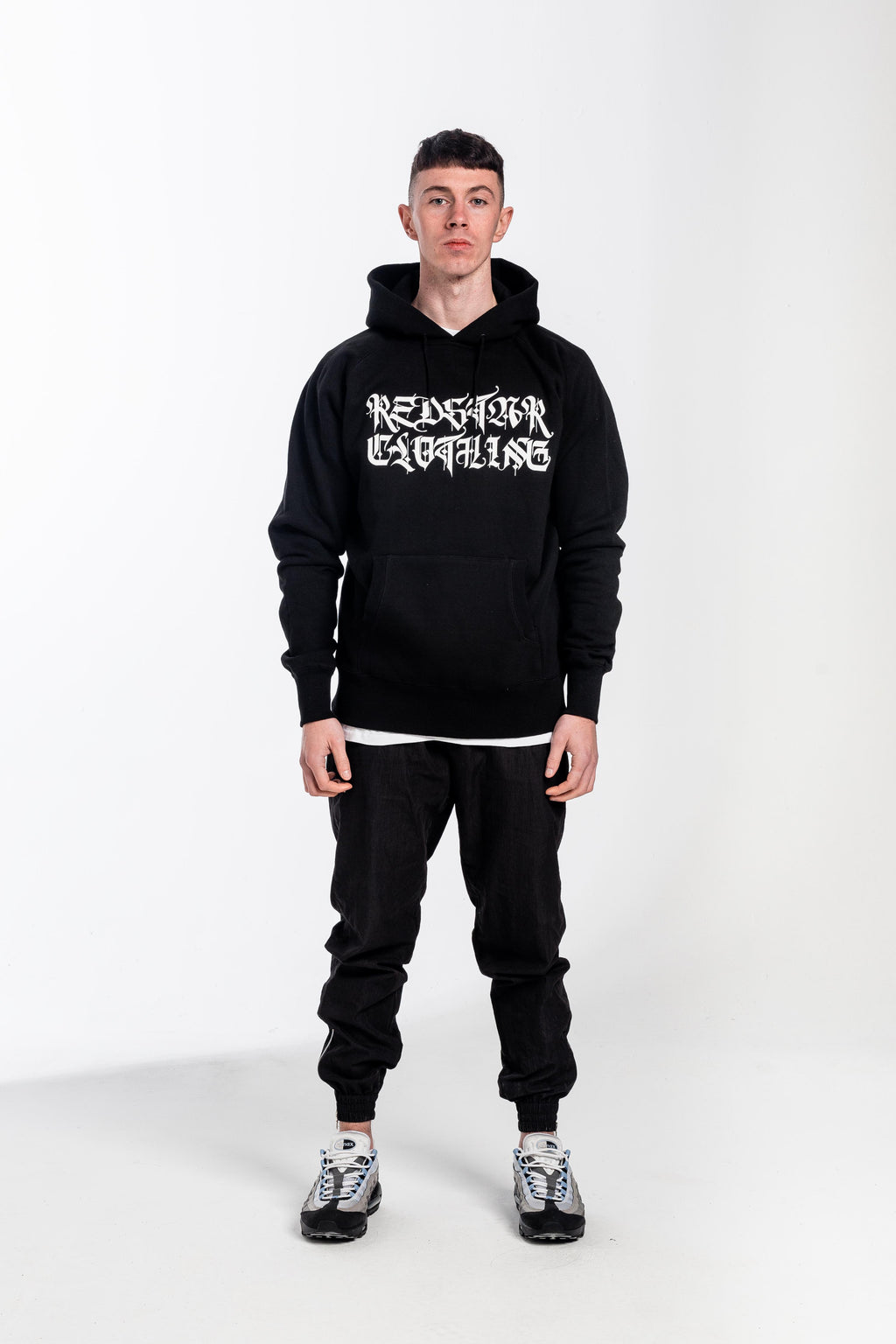 Old English Hoodie Black