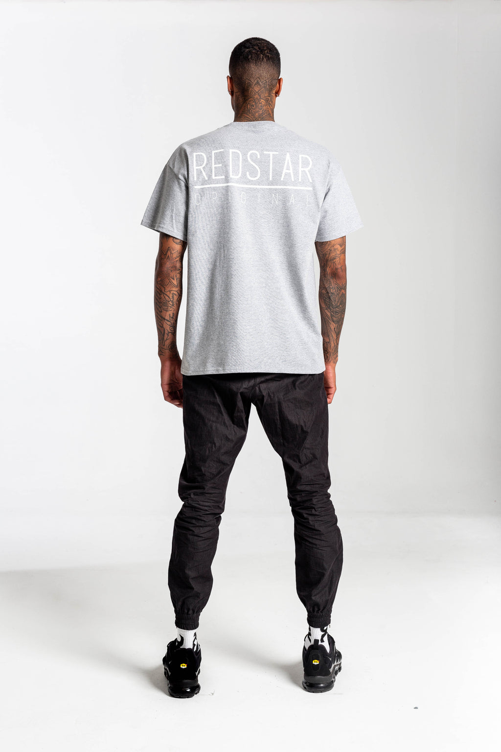 Redstar Originals Grey Tshirt - Backprint & Front Embroidery