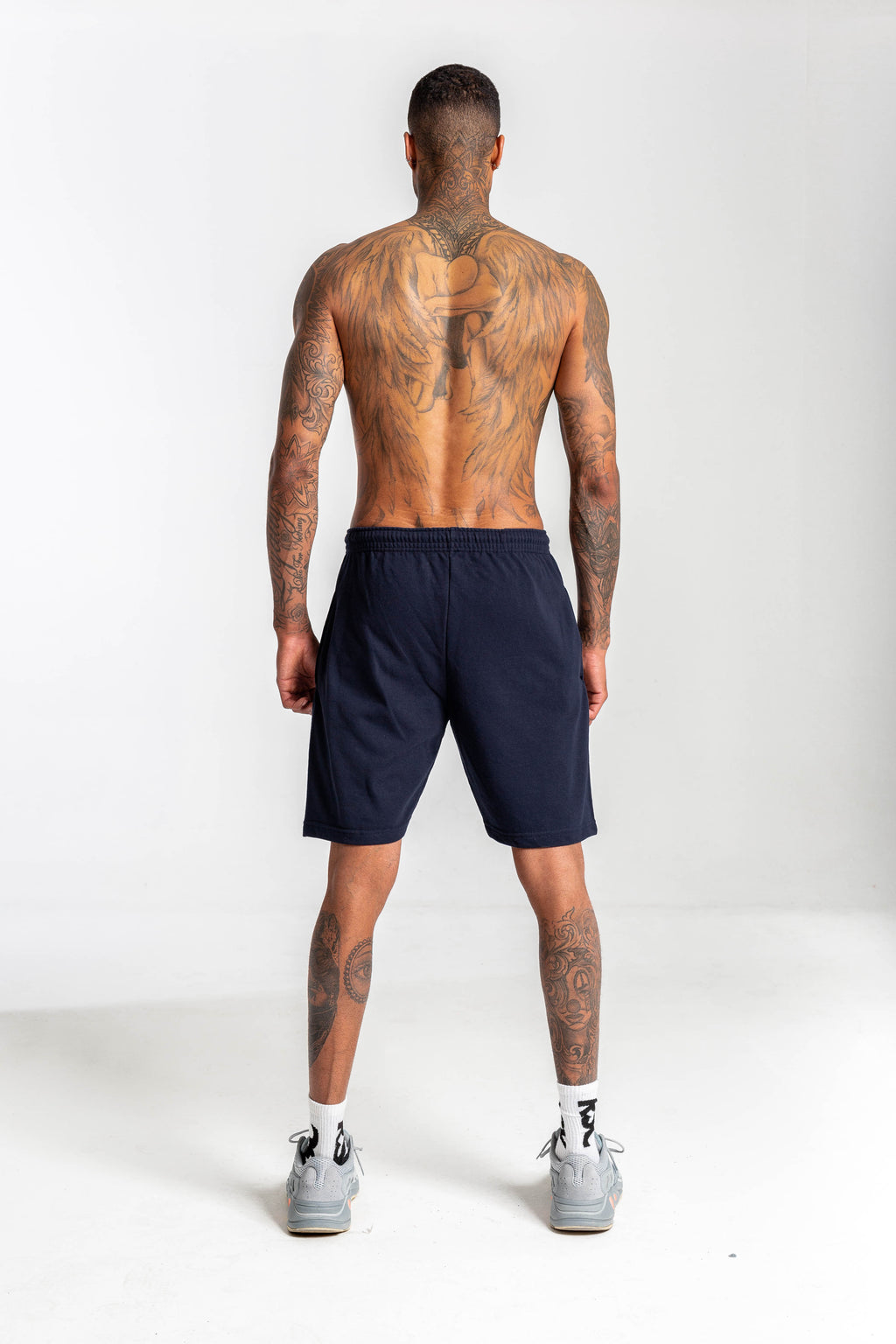 OG Oversized Logo Sweat Shorts Navy