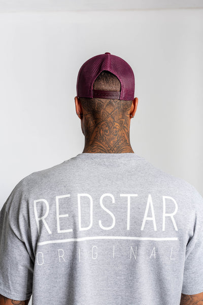 Redstar Double R Burgundy Trucker Cap