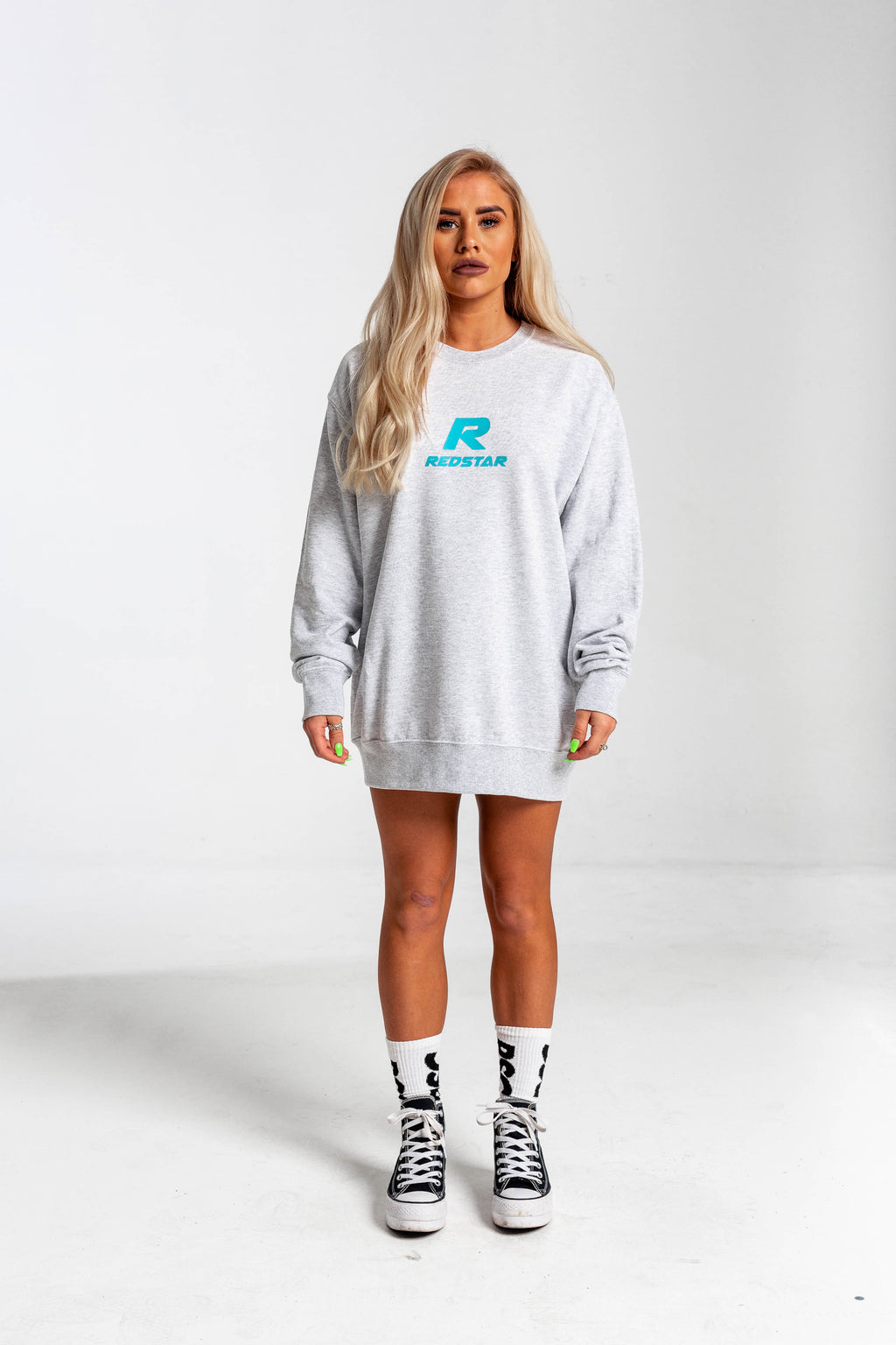 RSC Console R Grey Sweater - Front & Back Embroidery