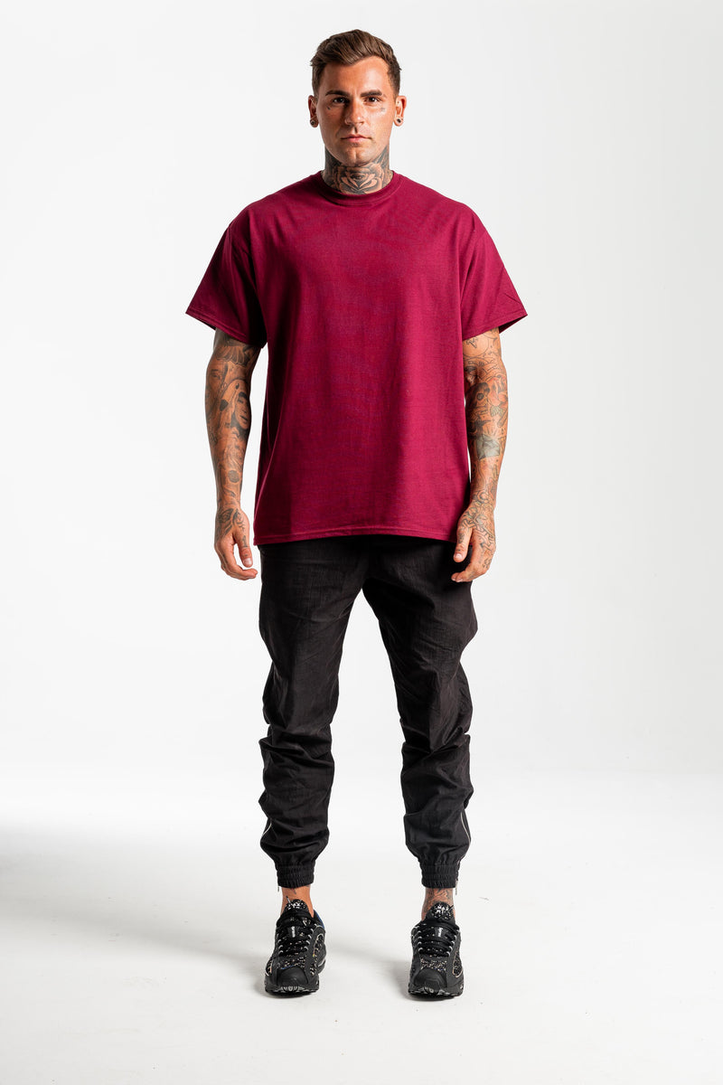 Biker Burgundy T-shirt - Back print