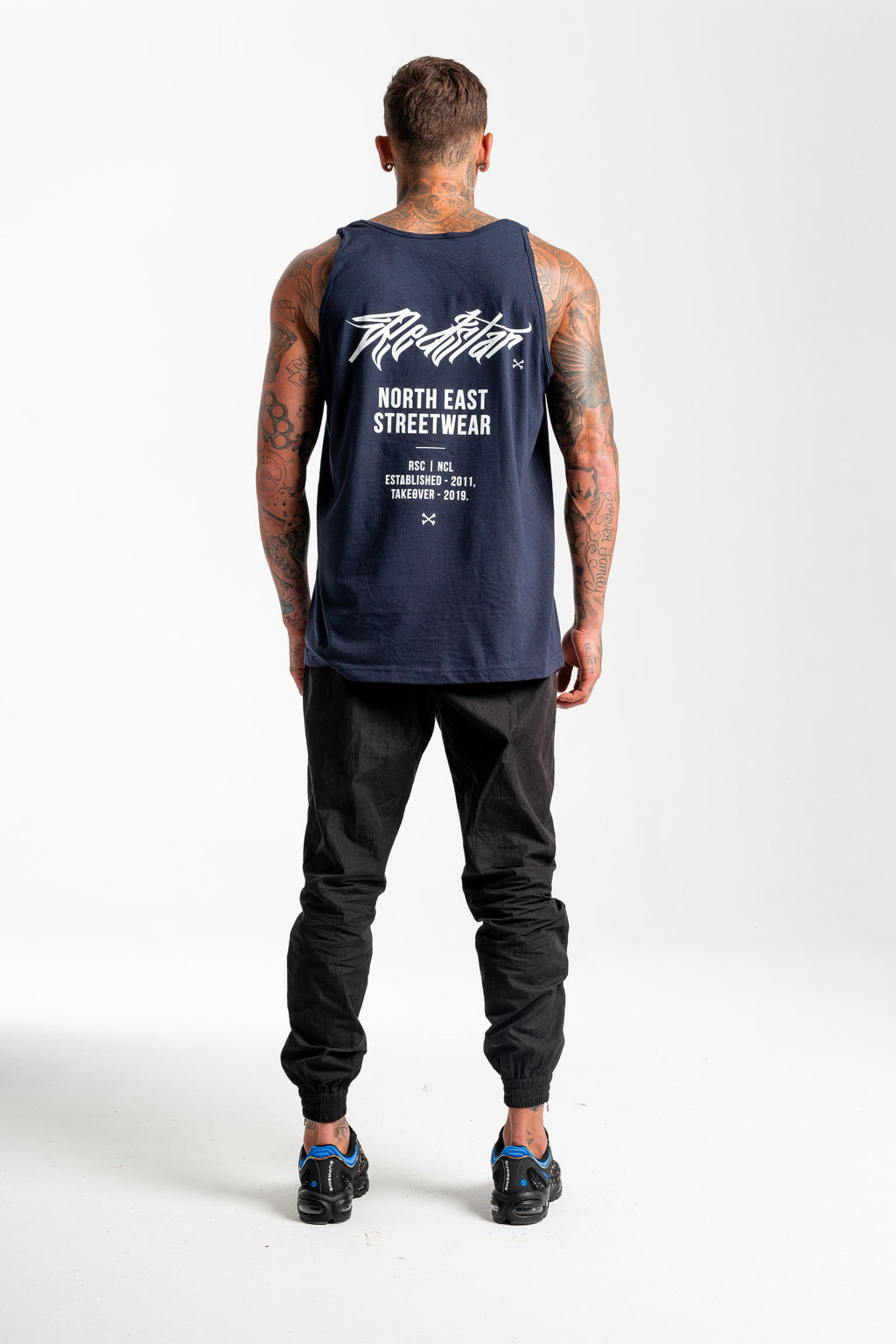 Tour Navy Vest - Back print