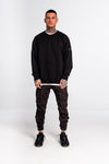 Dotted SkullBack Heavyweight Sweater Black