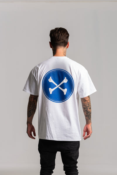 Circle Bones White with Blue T-shirt