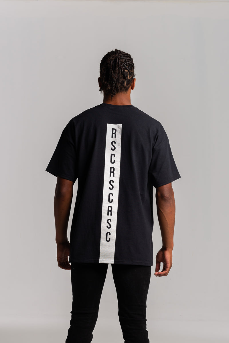 Back Stripe Bold Black T-shirt