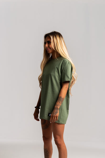 Ladies Vintage Military Green Tshirt