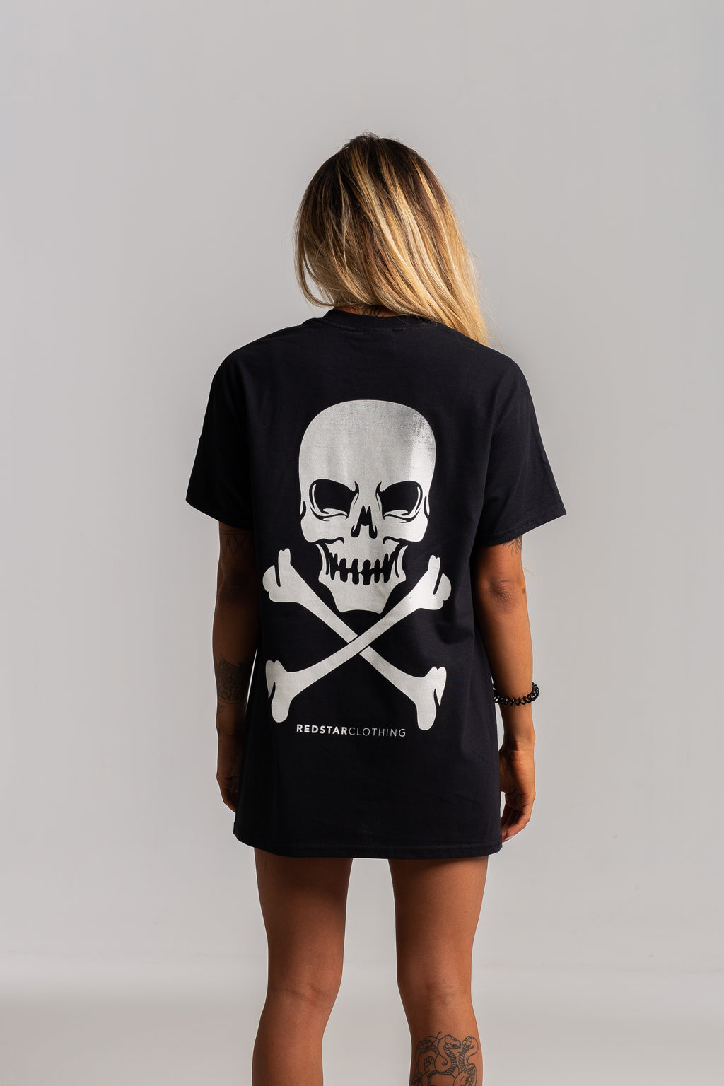 Skull Back Black Tshirt