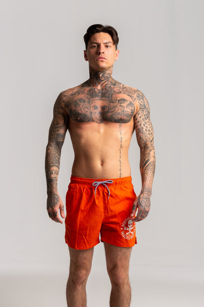 OG Logo Burnt Orange Swim Shorts