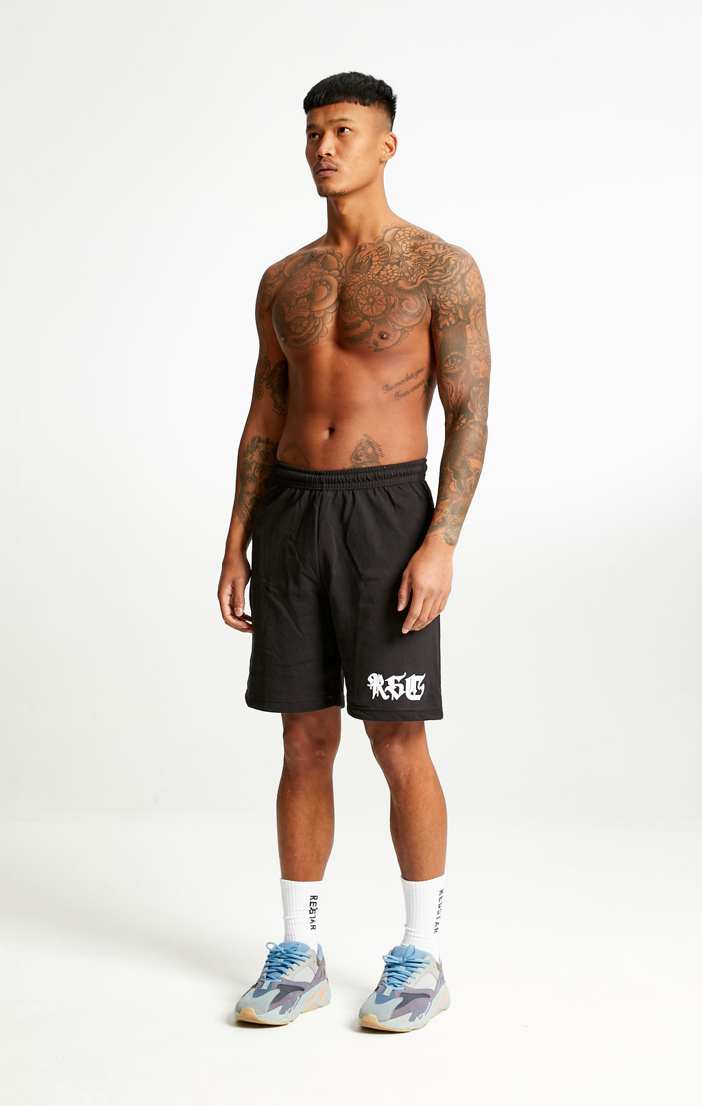 RSC Old English Sweat Shorts Black