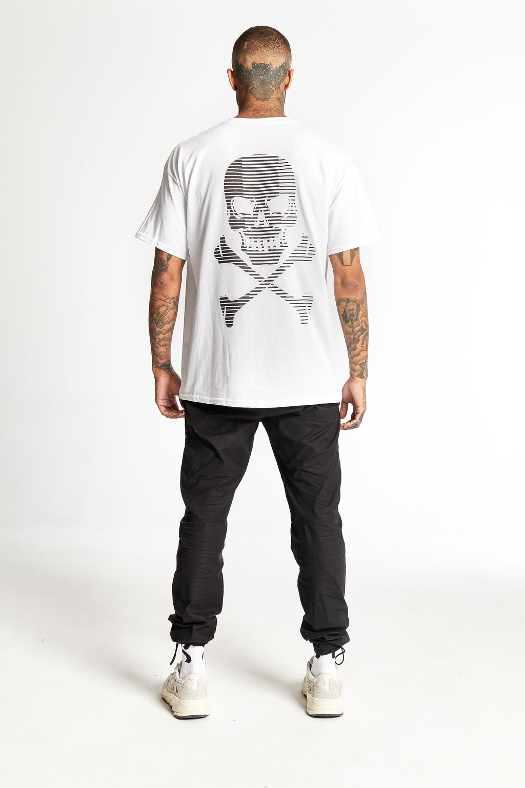 Stripe Skull White