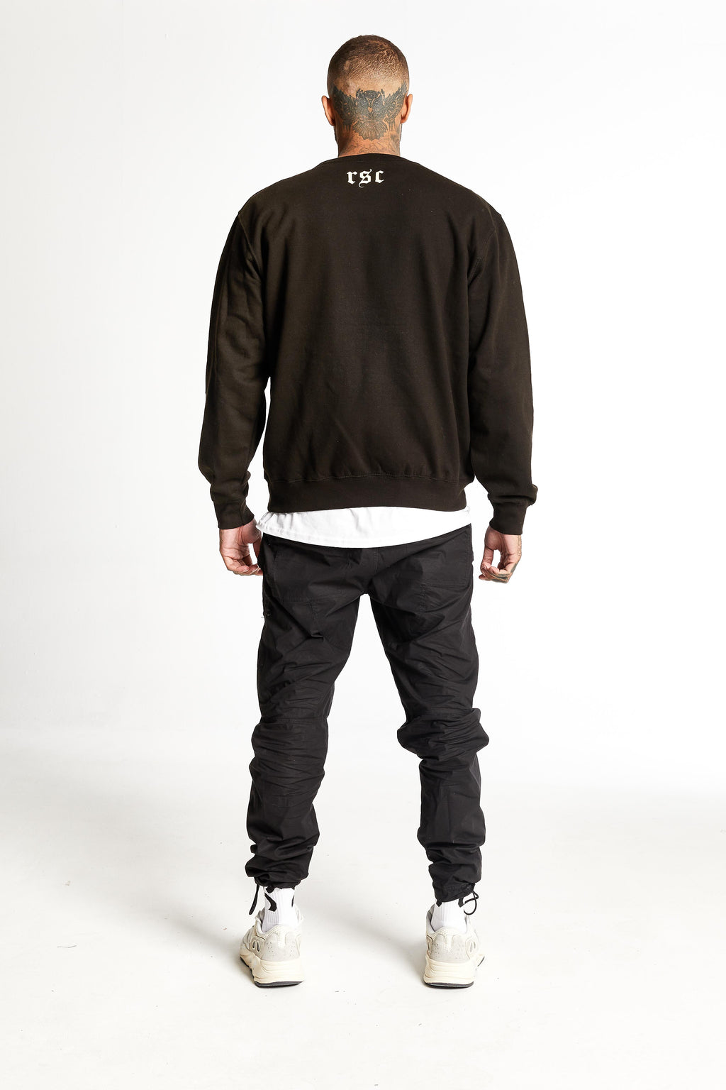 Corroded Logo Heavyweight Sweater Black
