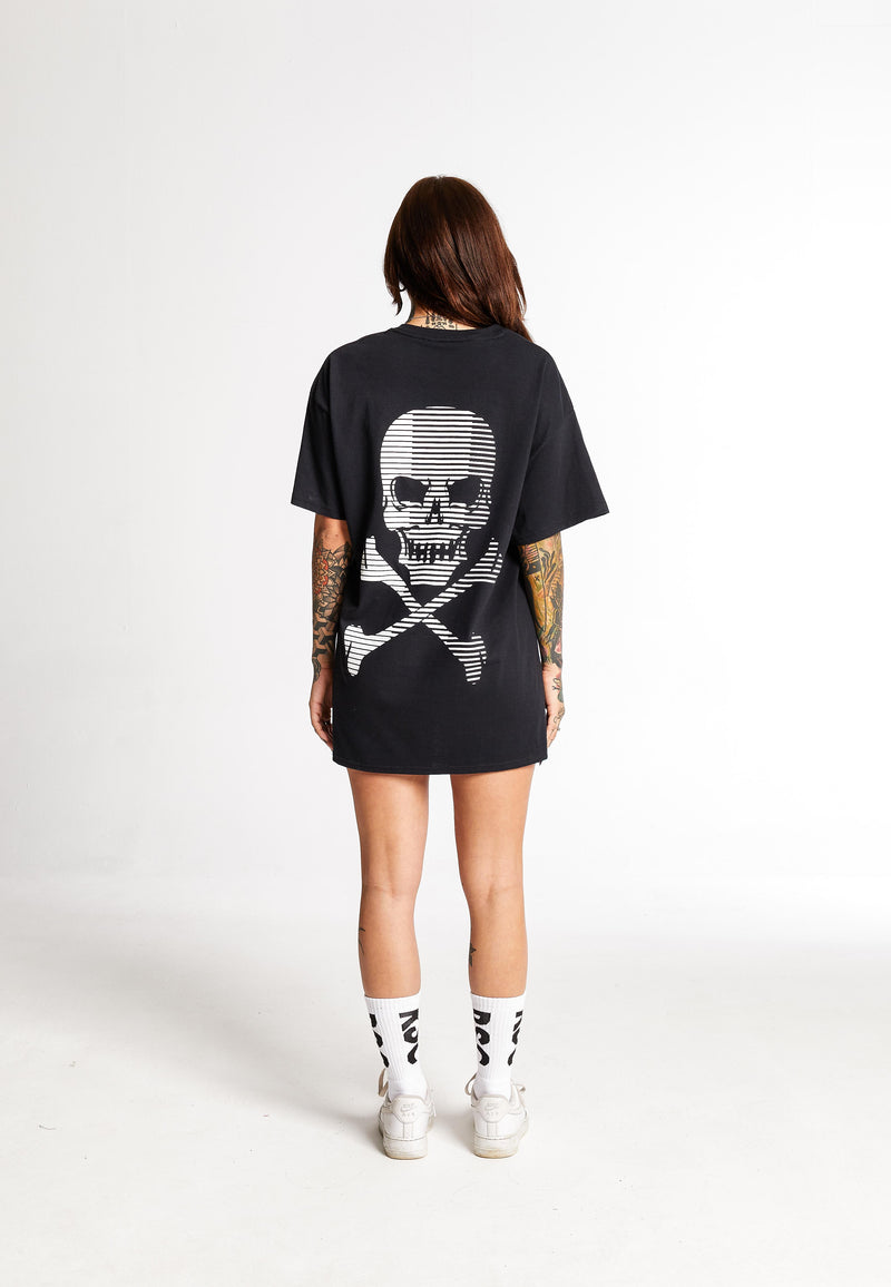 Stripe Skull Black