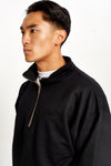 Redstar Quarter Zip Black