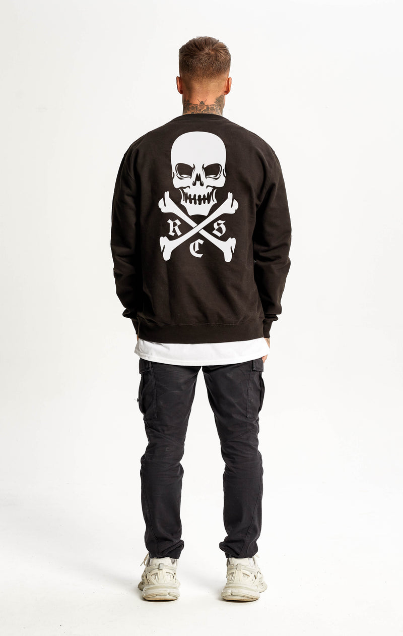 RSC SkullBack Heavyweight Sweater Black