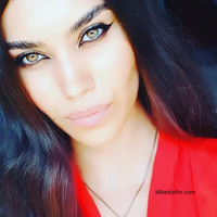 My Beautiful Friend from Tunisia in Red with Stunning Eyes!