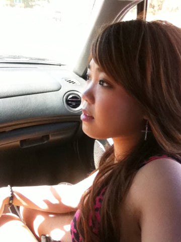 Cute Asian Girl in Car on Date