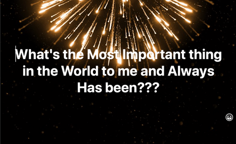 Golden New Years Fireworks falling down | What's the Most Important thing in the World to Me???