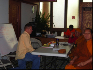 That's Me Teaching the Monks in the temple!