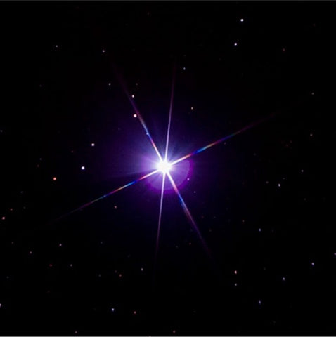 Sirius Star shining brightly in the dark night sky