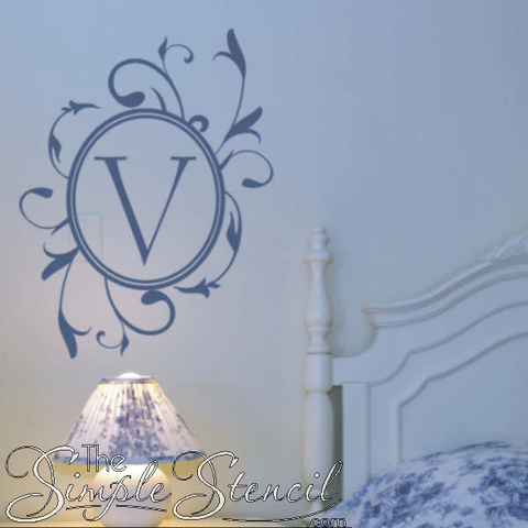 Blue-Vinyl-Wall-Monogram-Decal-Courtesy-Of-TheSimpleStencil