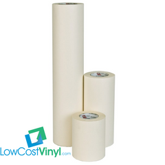Collection of vinyl transfer application tapes from LowCostVinyl.com for use with all your vinyl craft project needs.