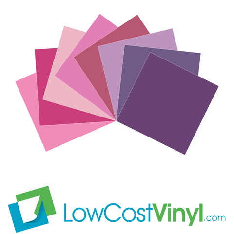 Oracal 631 Pink & Purple Vinyl Colors - 8 Beautiful Matte Finish Shades - 12 inch Sheets For Cricut, Silhouette & Vinyl Cutters