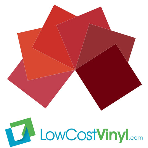 "Oracal 631 Red Vinyl - 6 Matte Shades of Red 12"" & 24"" Sheets - Cricut, Silhouette & Vinyl Cutter Materials"