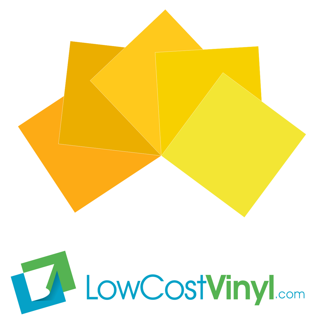 Removable Vinyl | Craft Cutting Machine Projects Sheets | Yellow ...