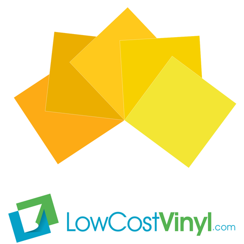 Oracal 631 Yellow Vinyl - 5 Beautiful Matte Finish Shades - 12 inch Sheets For Cricut, Silhouette & Vinyl Cutters