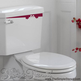 Red Oracal Vinyl creates a peekaboo toilet seek decal for Halloween fun. Courtesy of TheSimpleStencil.com