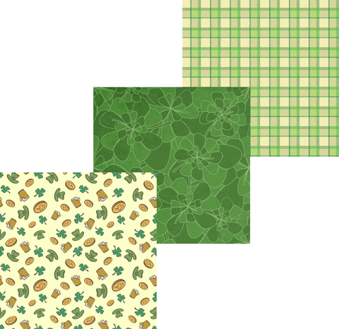 St. Patrick's Day Patterned Vinyl Set - Custom Printed Oracal 651 Vinyl 12 x 12 inch sheets