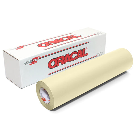 "Ivory & Beige Matte Finish Craft Vinyl | Oracal 631 Removable Wall Vinyl | 12 & 24"" Rolls"