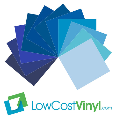 "Oracal 631 Blue Vinyl 12"" Sheets - 11 Beautiful Shades For Cricut, Silhouette & All Vinyl Cutters"