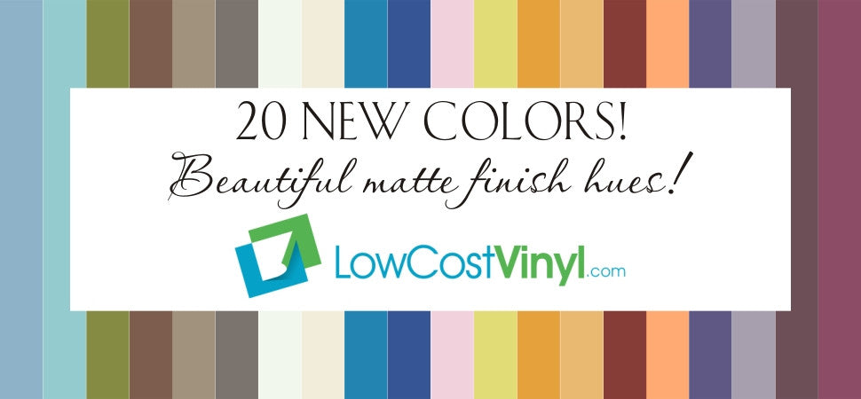 20 New Oracal Colors - Series 631 - Removable Wall Vinyl