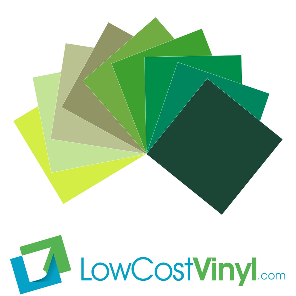 "Oracal 631 Green Vinyl - 9 Beautiful Matte Shades - 12"" & 24"" Sheets For Cricut, Silhouette & Vinyl Cutters"