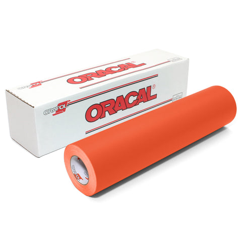 Orange Matte Vinyl Rolls | Oracal 631 Removable Wall & Craft Vinyl Rolls