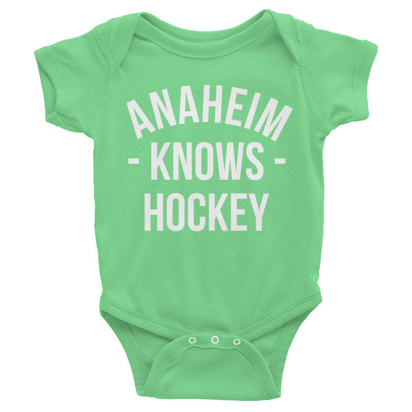Anaheim Knows Hockey Baby Onesie