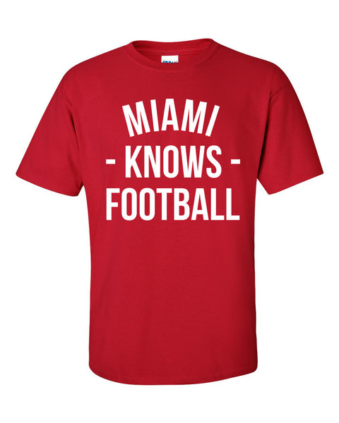 Miami Knows Football T-Shirt (Unisex)