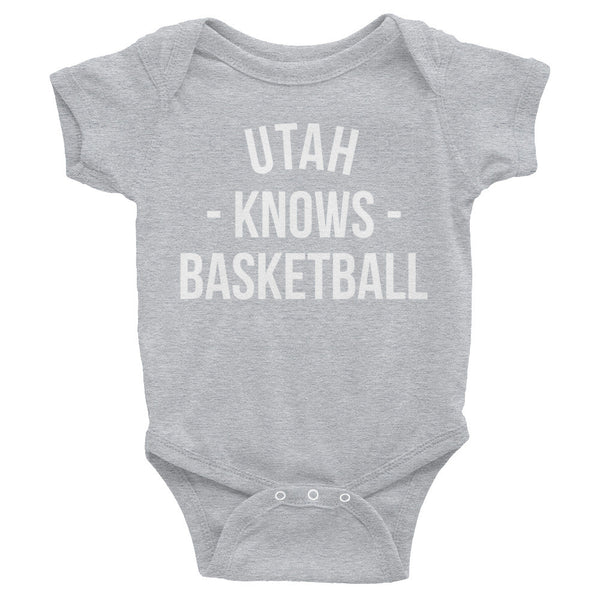 Utah Knows Basketball Baby Onesie