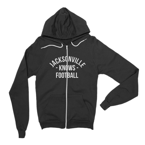 Jacksonville Knows Football Zip Hoodie (Unisex)