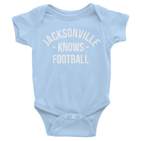 Jacksonville Knows Football Baby Onesie