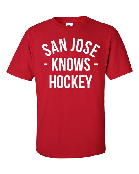 San Jose Knows Hockey T-Shirt (Unisex)