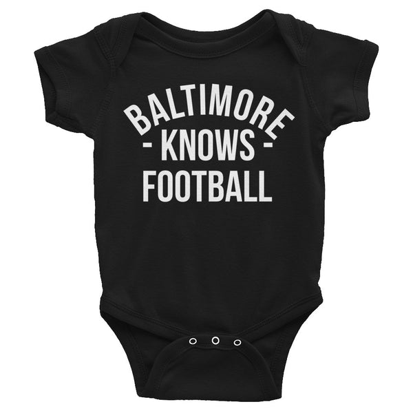 Baltimore Knows Football Baby Onesie