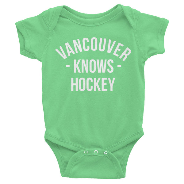 Vancouver Knows Hockey Baby Onesie