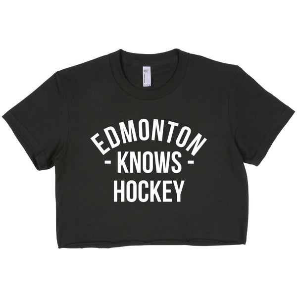 Edmonton Knows Hockey Women's Crop Top